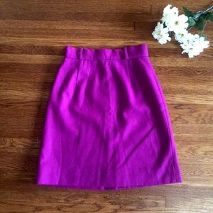 Dresses & Skirts - Purple Wool Excellent Condition Pencil Skirt